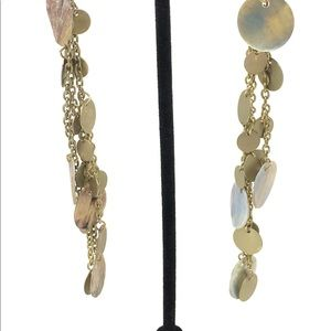 Jewelry - Dangling Earrings Round Shell & Hoop Earrings